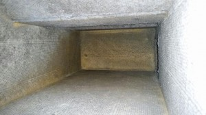 Mold in duct